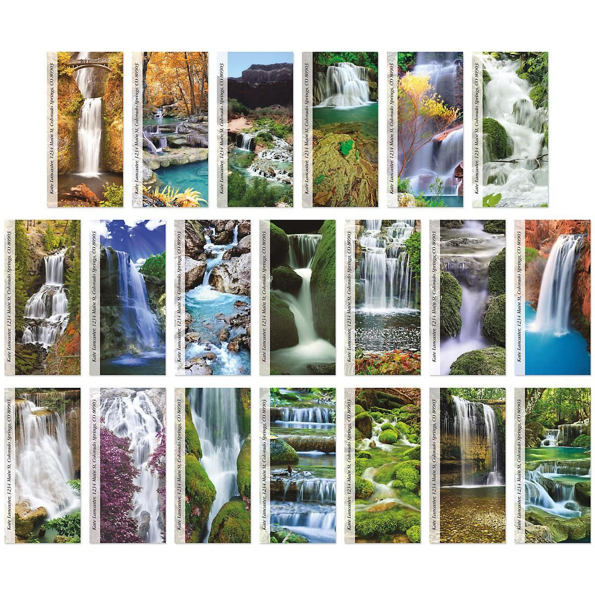 Enchanting Waterfalls  Oversized Address Labels  (20 Designs)