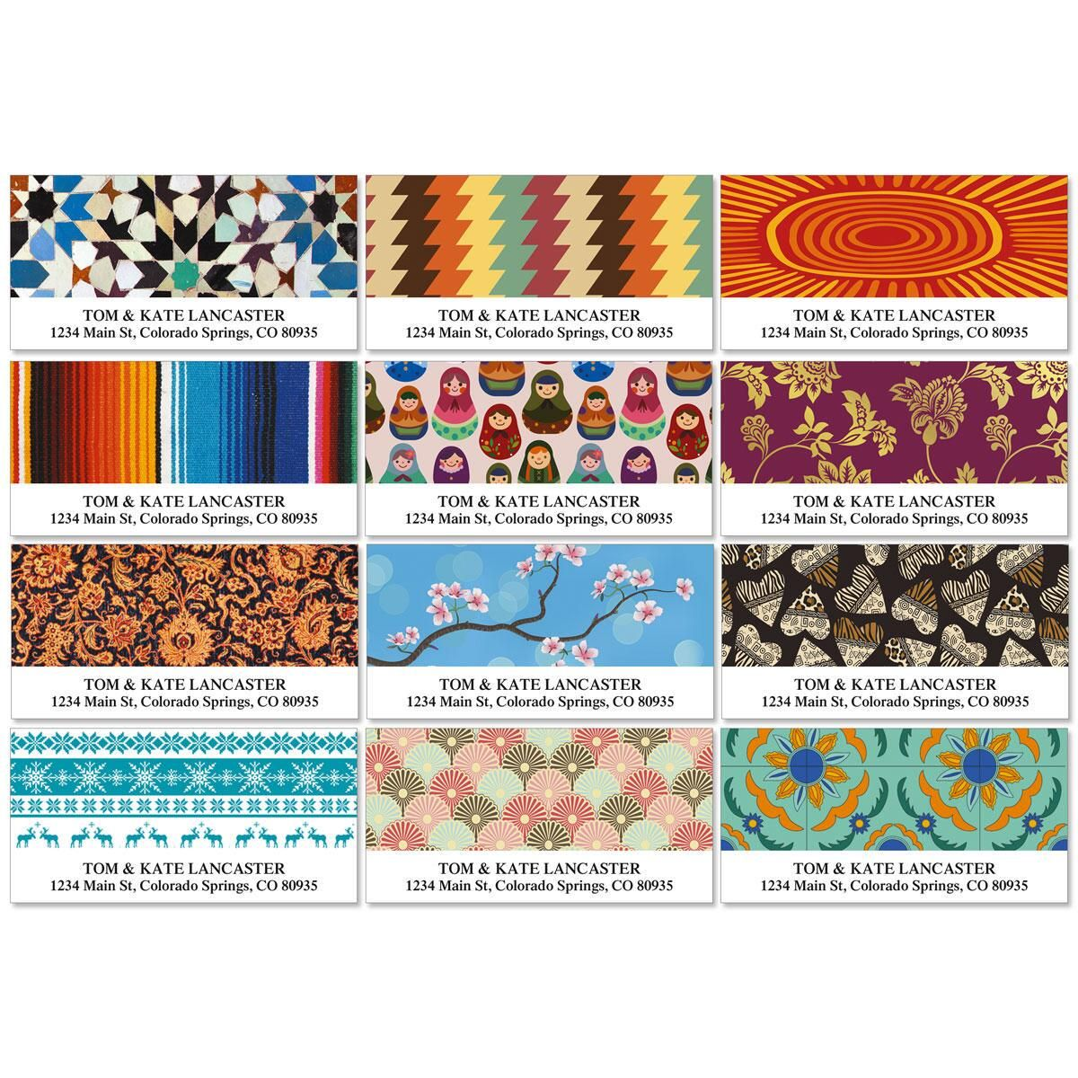 Global Influence Deluxe Address Labels   (12 Designs)
