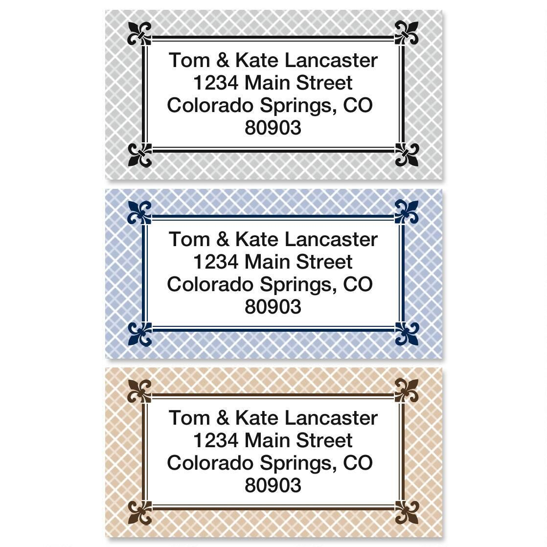 Plain & Simple Border Address Labels  (3 Designs)
