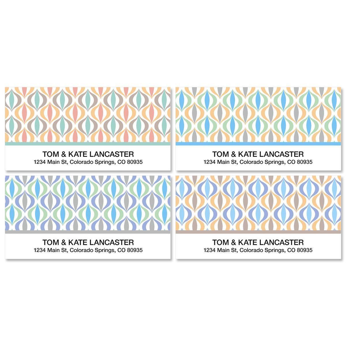Ikat Deluxe Address Labels  (4 Designs)
