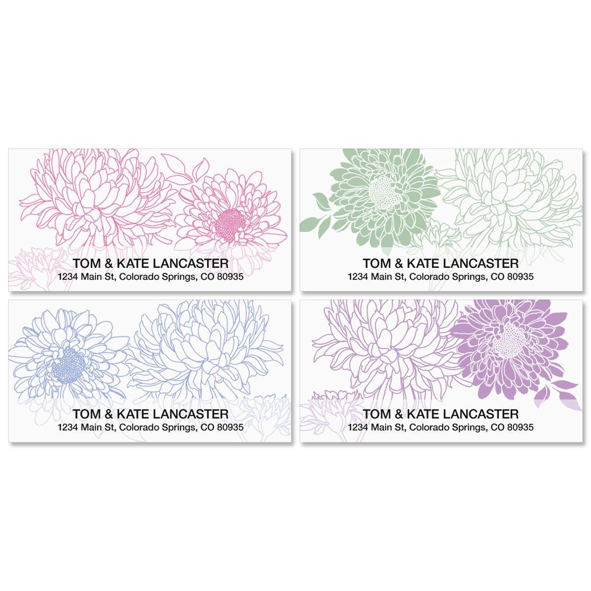 Flora Deluxe Return Address Labels  (4 Designs)