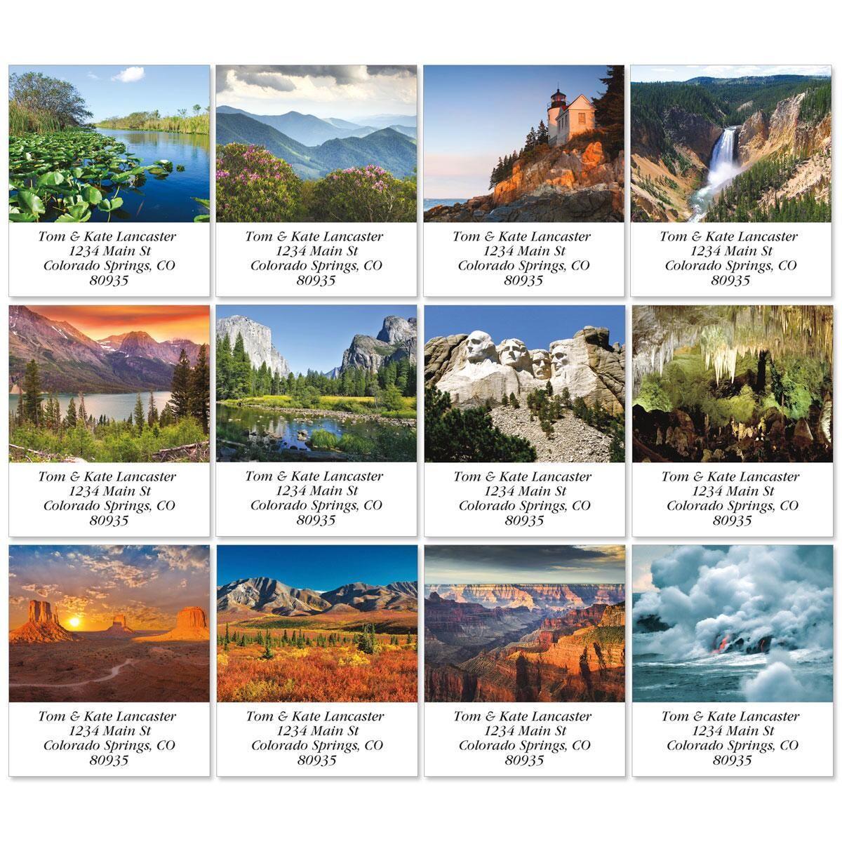 America's National Park Select Address Labels  (12 Designs)