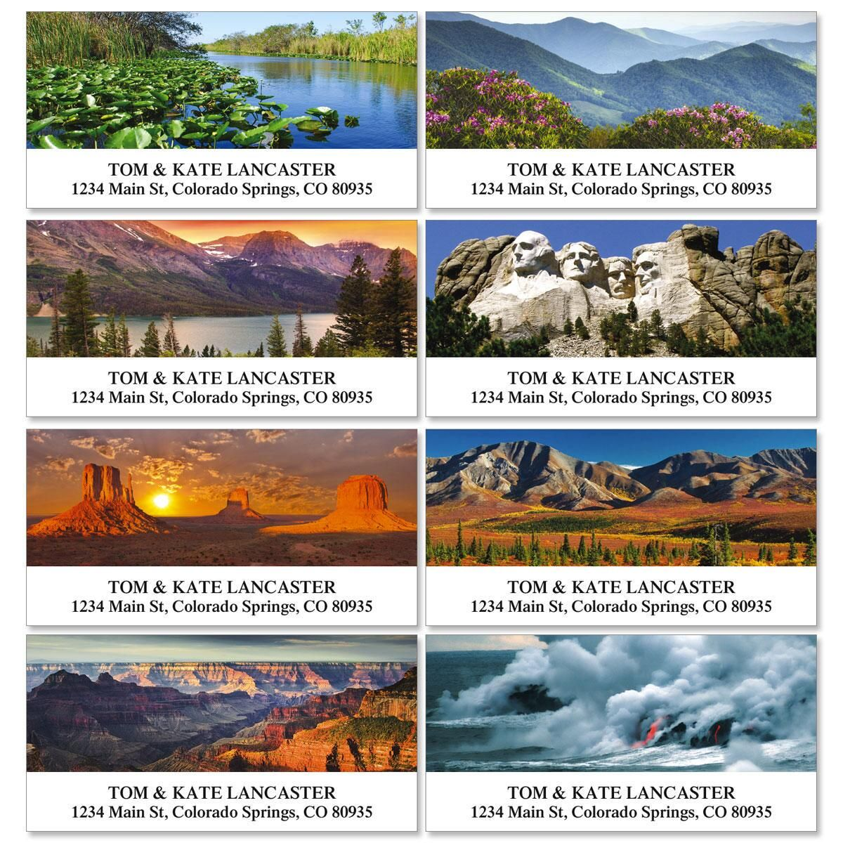 America's National Parks Deluxe Return Address Labels  (8 Designs)