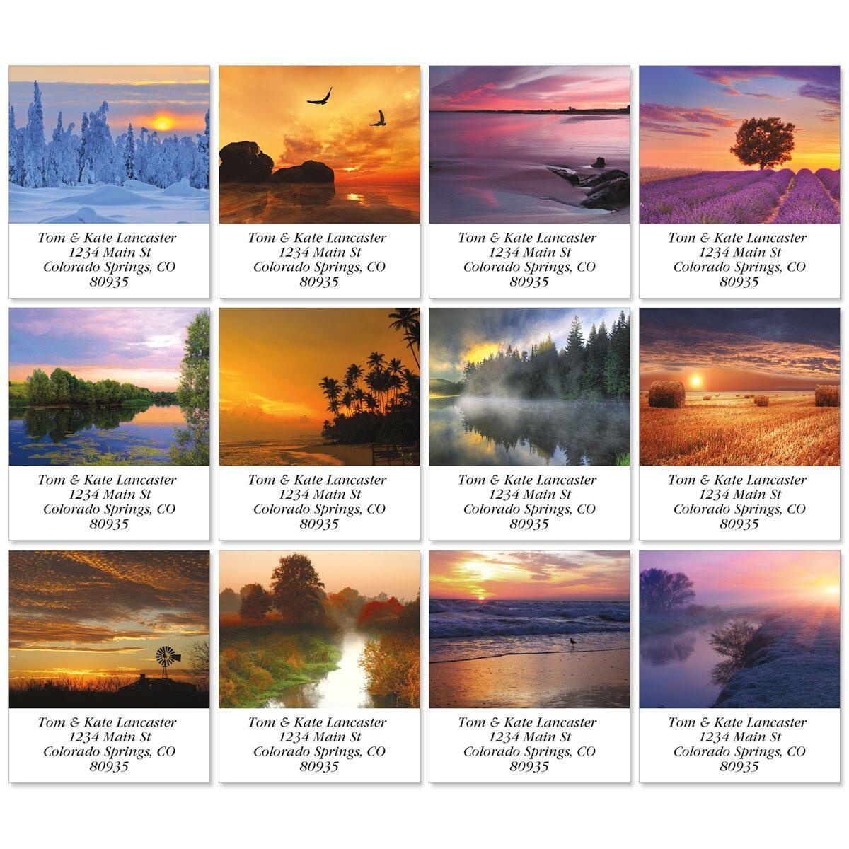 Alluring Sunscapes Select Return Address Labels  (12 Designs)