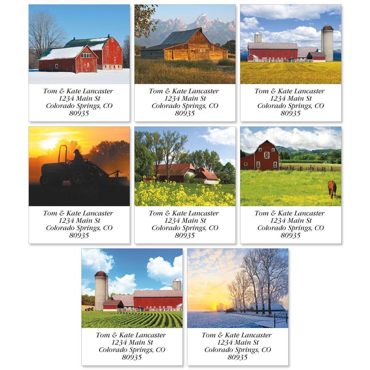 Farms Select Return Address Labels  (8 Designs)