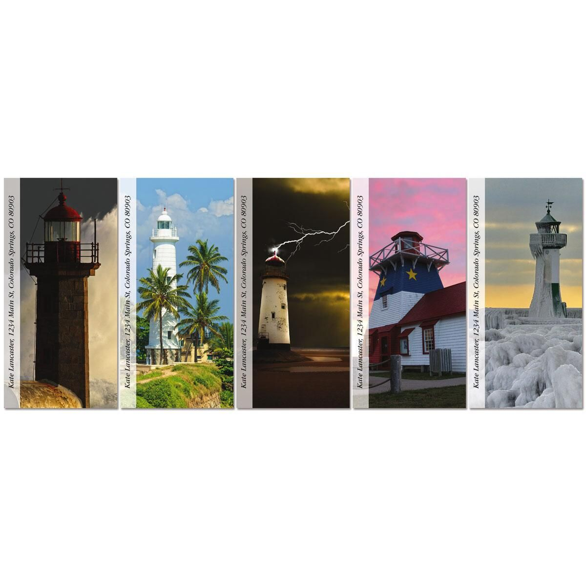 Iconic Lighthouses Oversized Return Address Labels  (5 Designs)