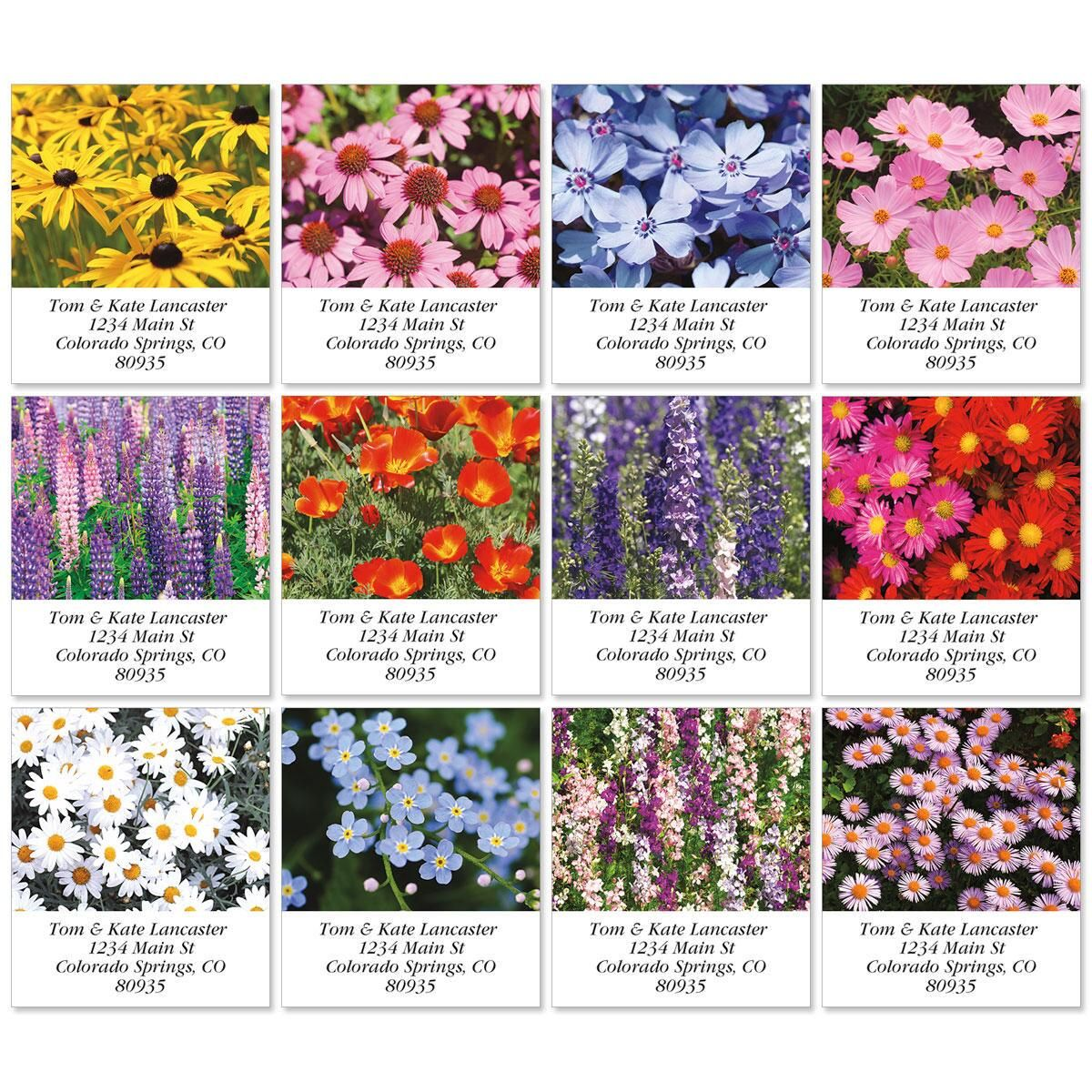 Wild Flora Select Return Address Labels  (12 Designs)