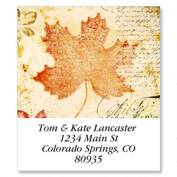 Leaf Post Select Return Address Labels  (6 Designs)