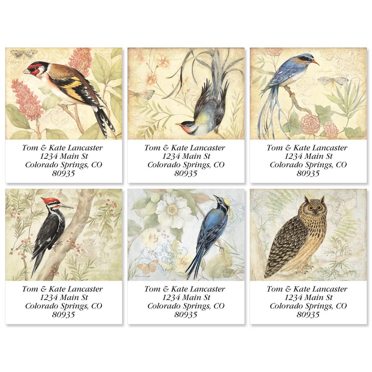 Botanical Birds Select Return Address Labels  (6 Designs)
