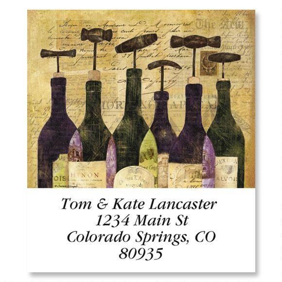 Wine Bottles Select Address Labels  (6 Designs)