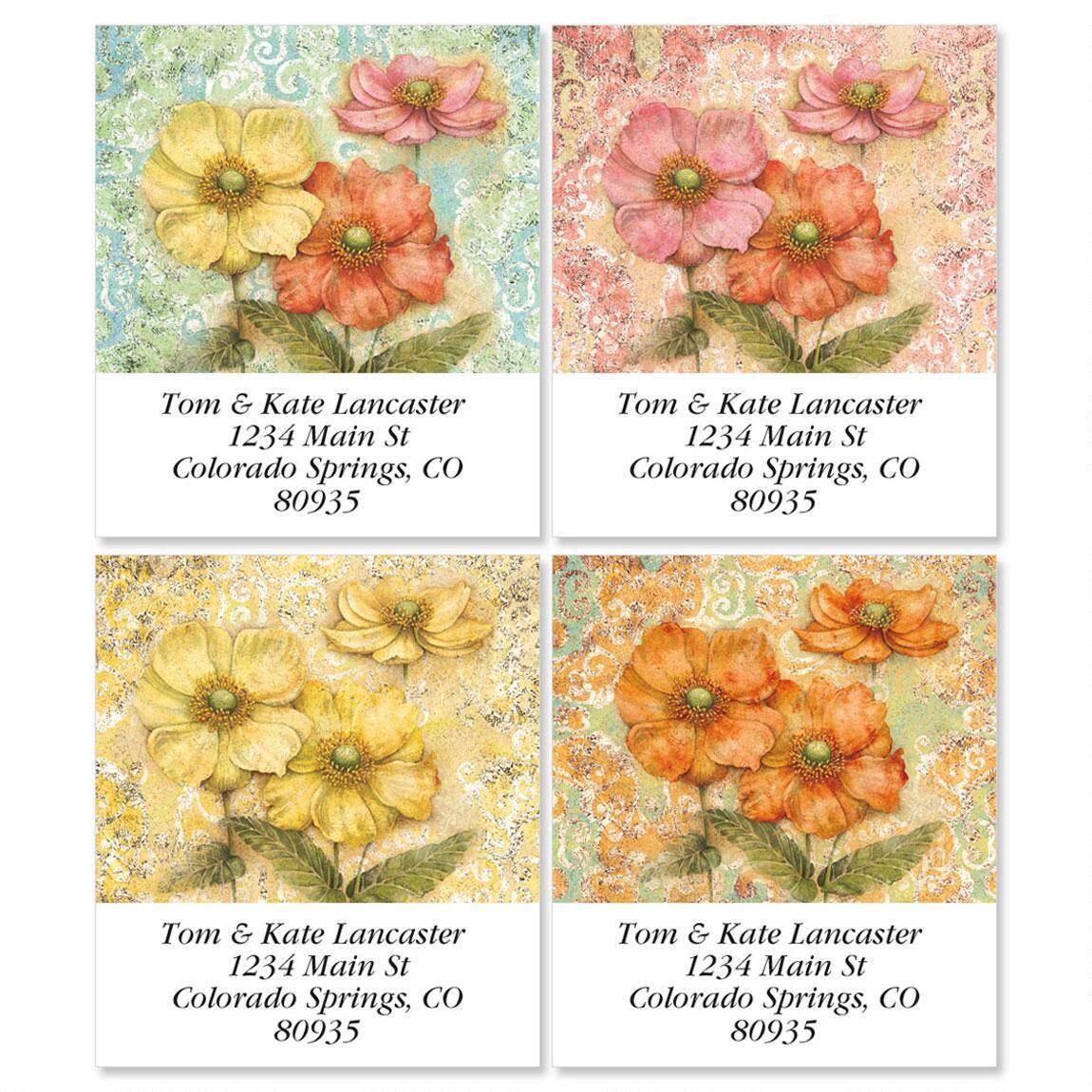 Serene Garden Select Address Labels  (4 Designs)