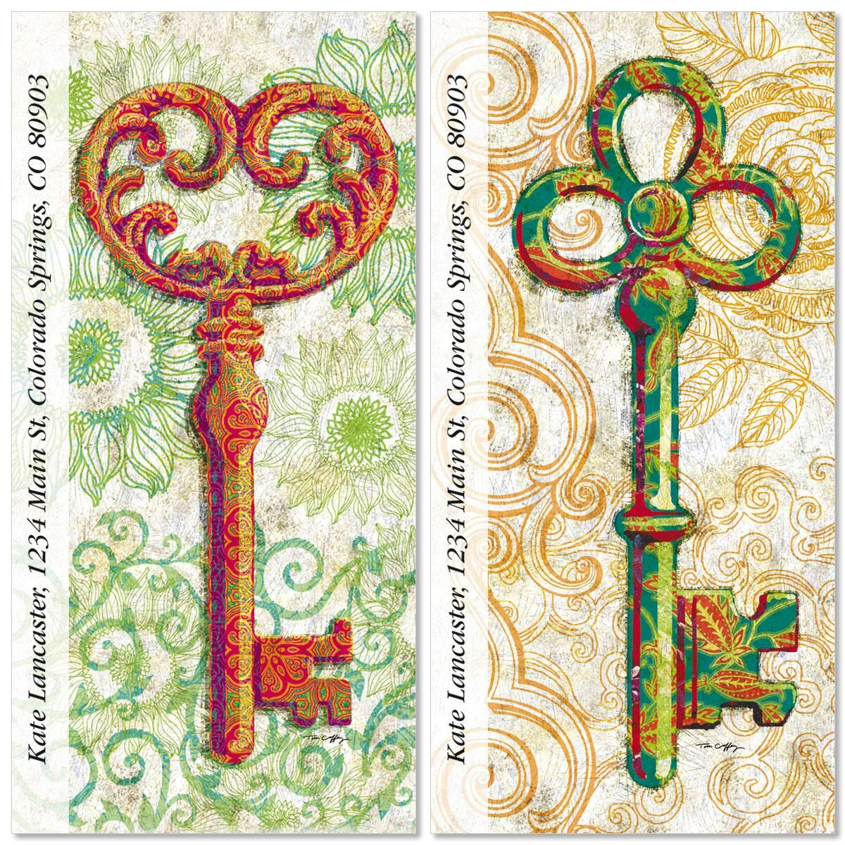 Colorful Keys Oversized Address Labels  (2 Designs)