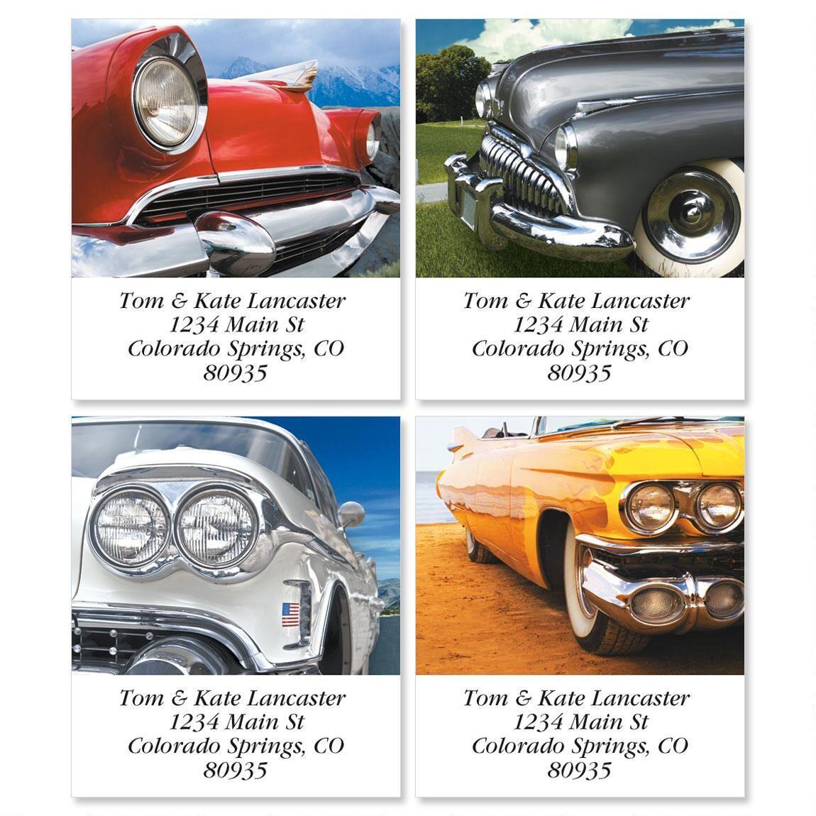 Classic Cars Select Return Address Labels  (4 Designs)