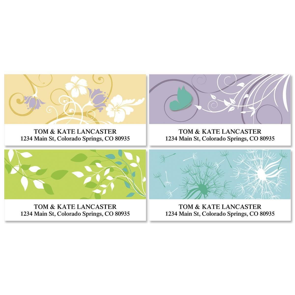 Silhouette 2  Deluxe Return Address Labels  (4 Designs)