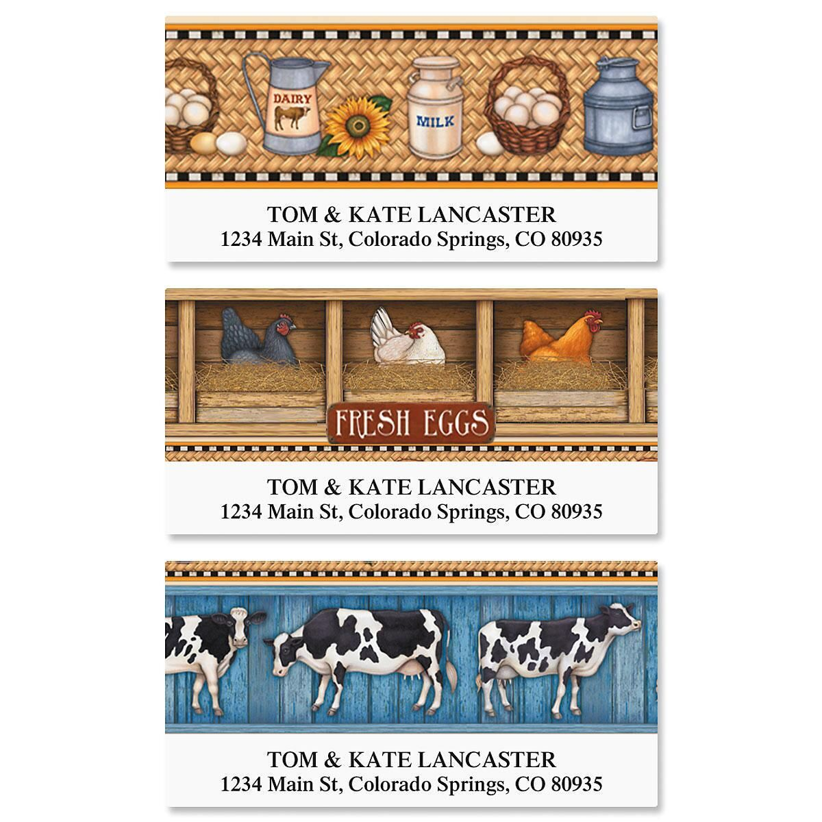 Farm Fresh Deluxe Address Labels  (3 Designs)