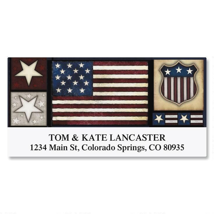 Liberty! Deluxe Return Address Labels  (6 Designs)