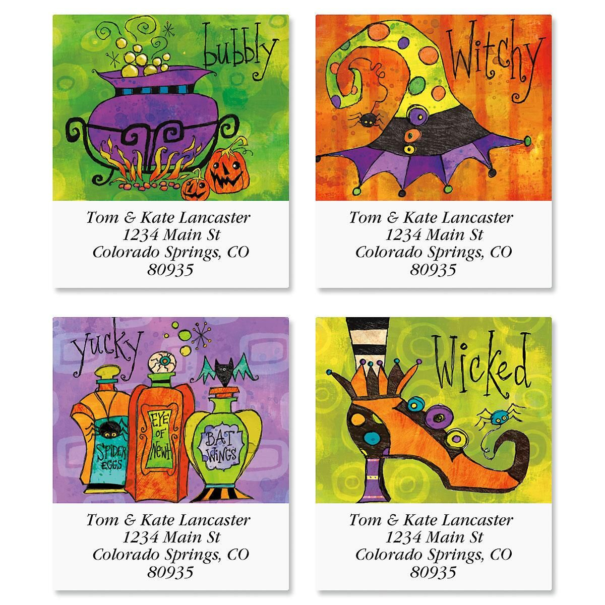 Wicked Select Return Address Labels  (4 Designs)