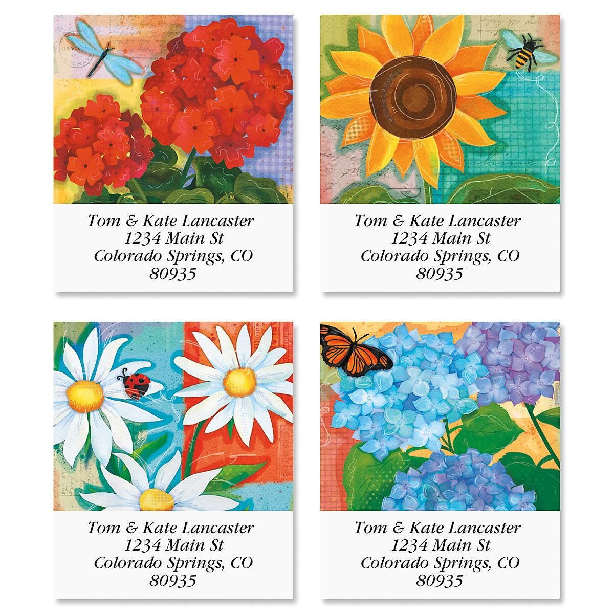 Festive Florals Select Return Address Labels  (4 Designs)