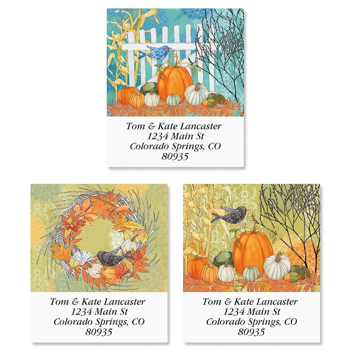 Autumn Splendor Select Return Address Labels  (3 Designs)