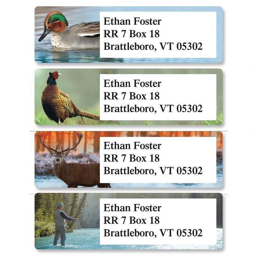Relaxing Wildlife  Classic Return Address Labels  (4 Designs)