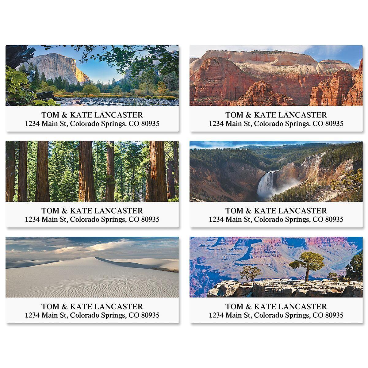 Nature's Landscape Deluxe Return Address Labels  (6 Designs)