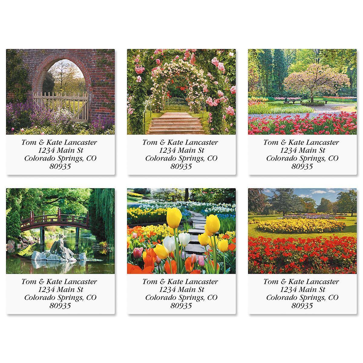 Gardens Select Address Labels  (6 Designs)