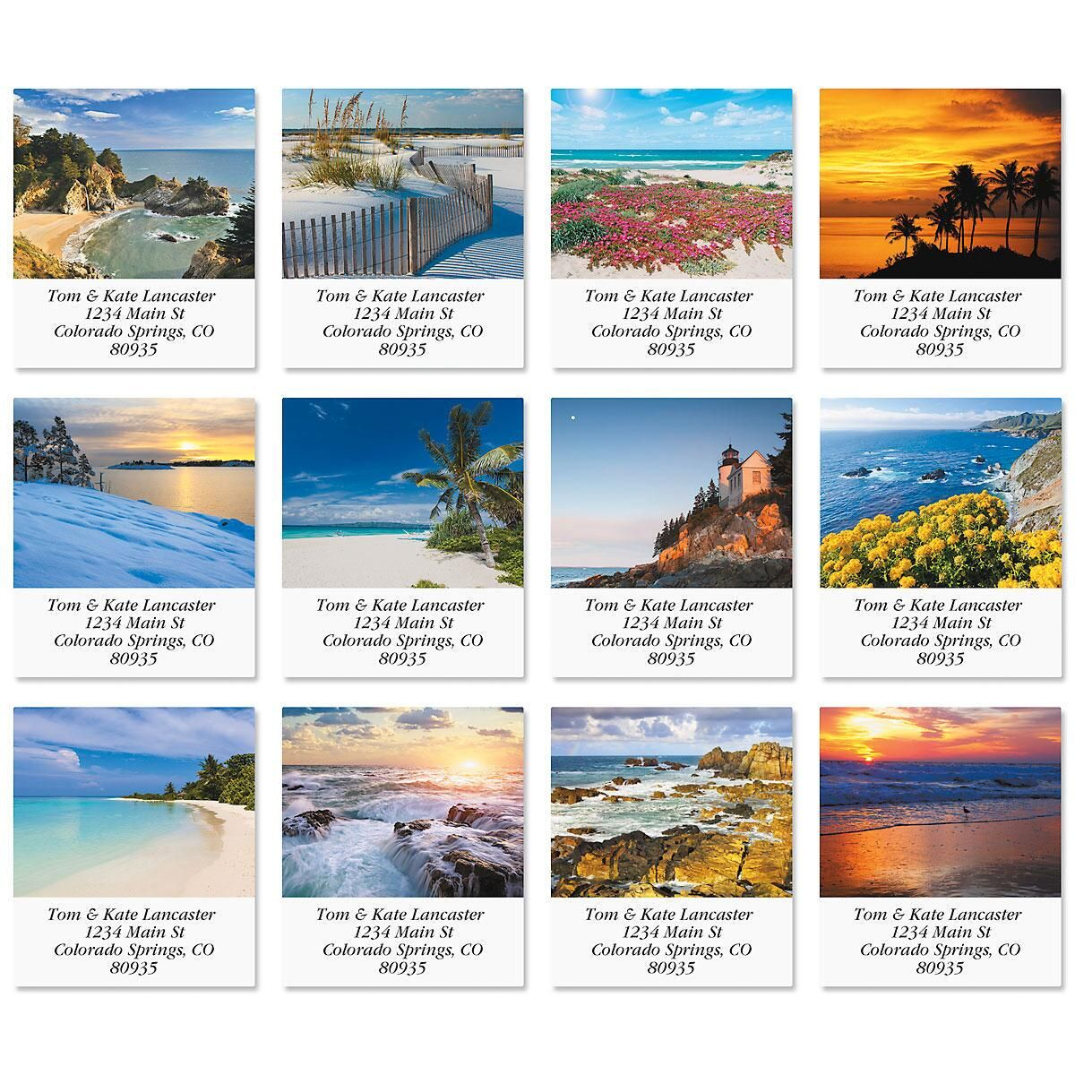 By The Sea Select Return Address Labels  (12 Designs)