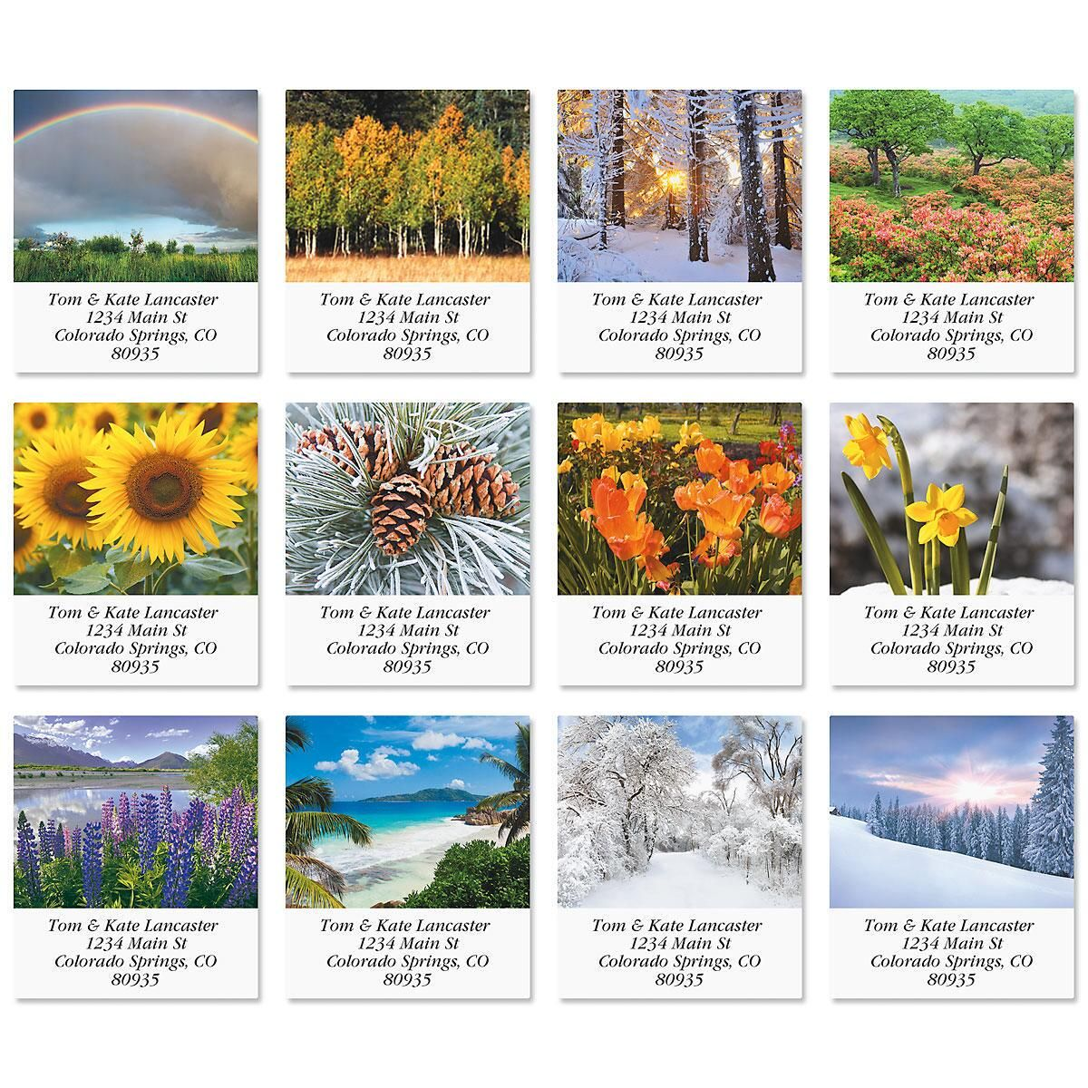 Seasonal Beauty Select Address Labels  (12 Designs)