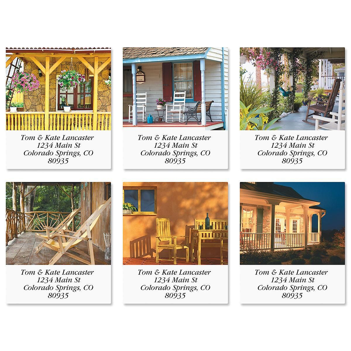Peaceful Porches Select Return Address Labels  (6 Designs)
