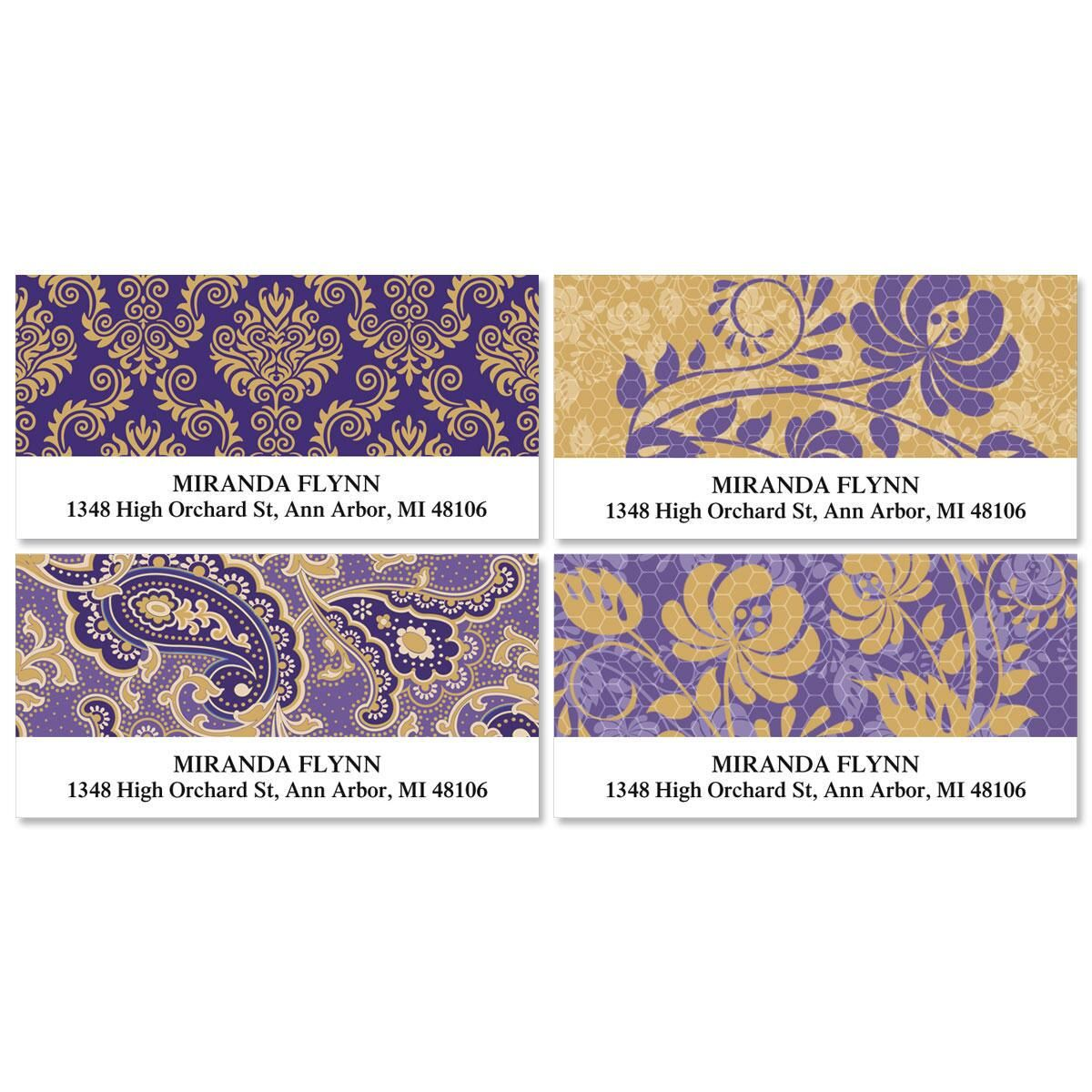 Frosty Lavender Deluxe Return Address Labels  (4 Designs)
