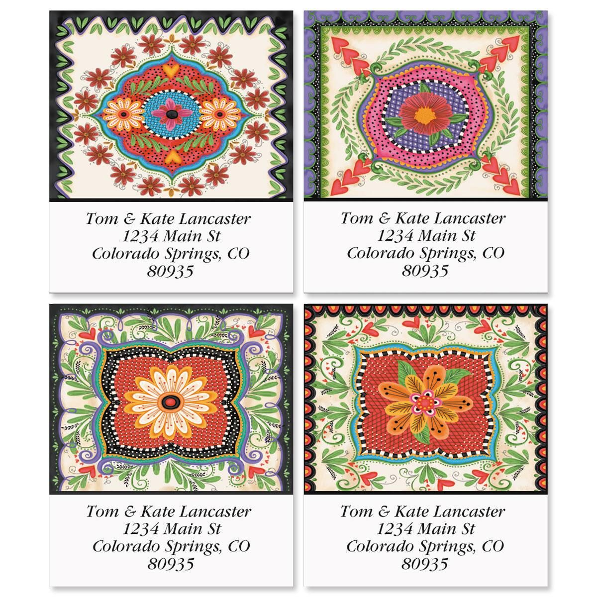 Spanish Flair Select Return Address Labels  (4 Designs)