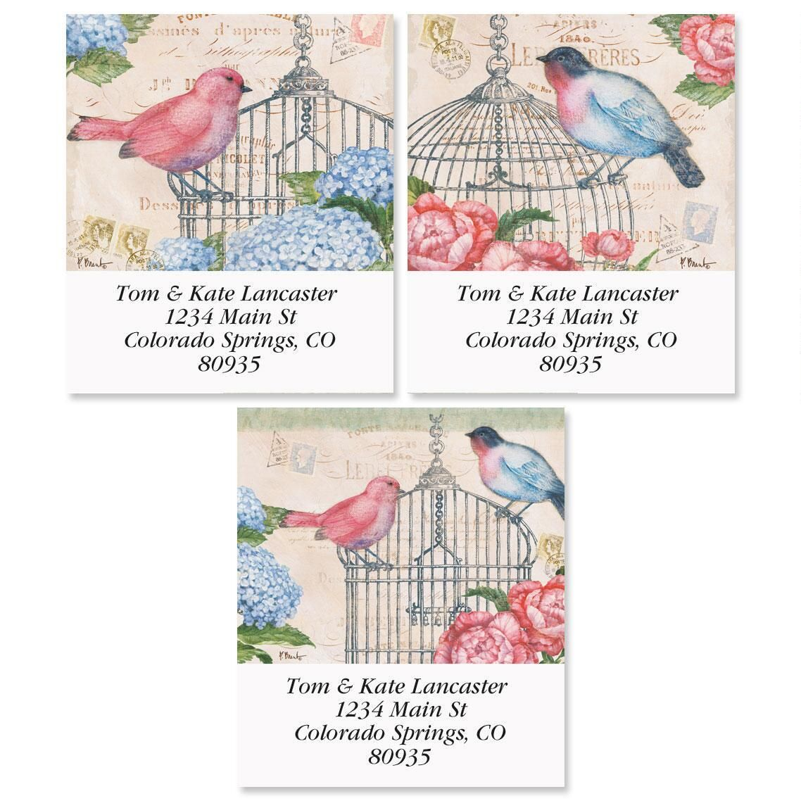 Bella Flora Select Return Address Labels  (3 Designs)
