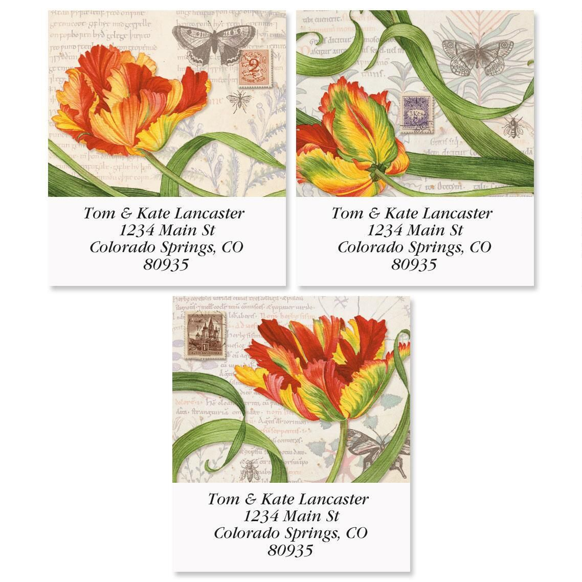 Tulips Select Address Labels  (3 Designs)