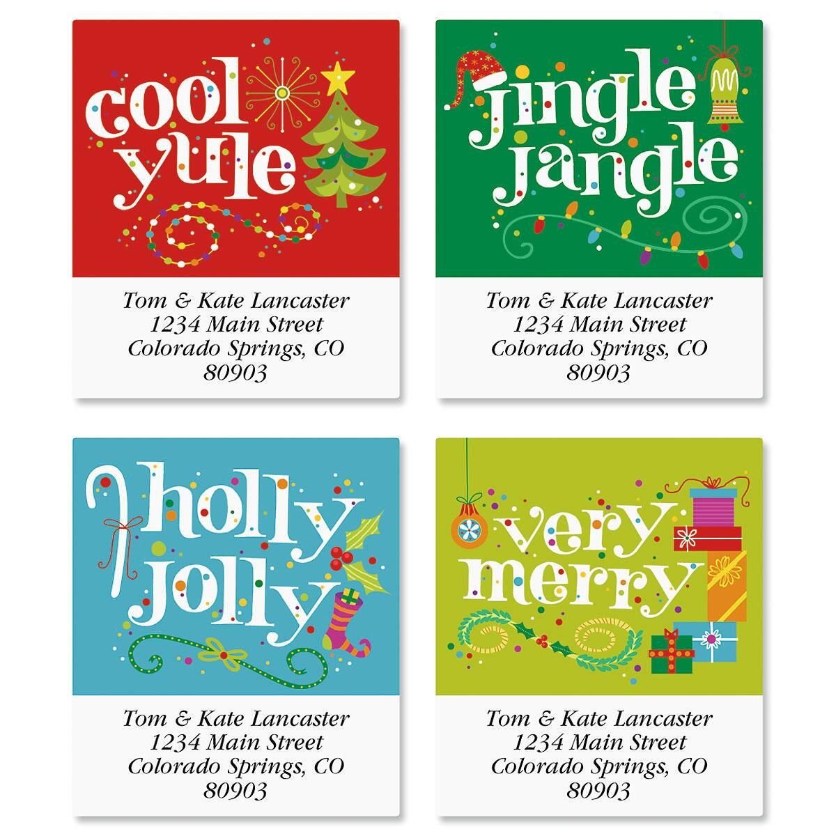 Cool Yule Select Return Address Labels  (4 designs)