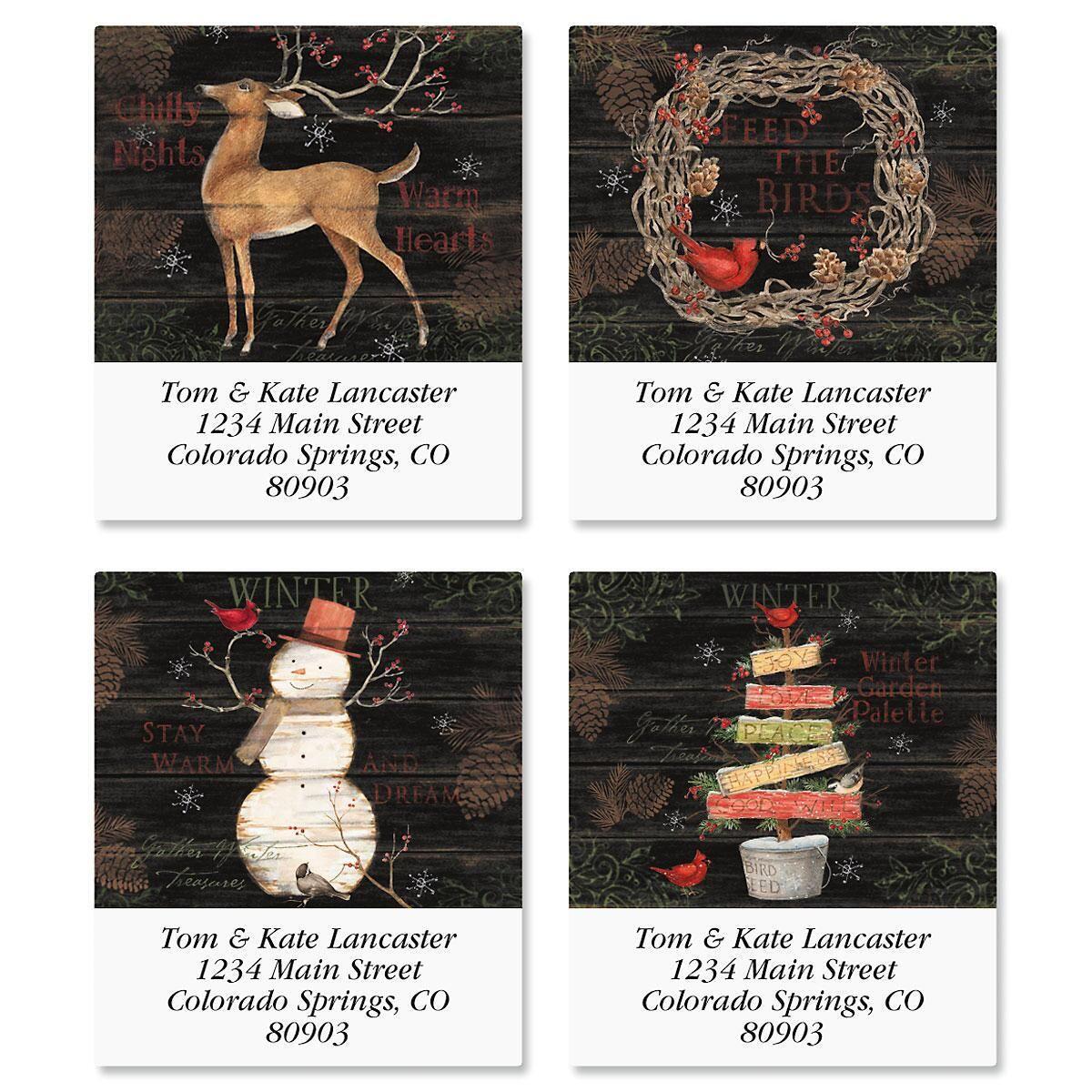 Winter Palette Select Address Labels  (4 Designs)