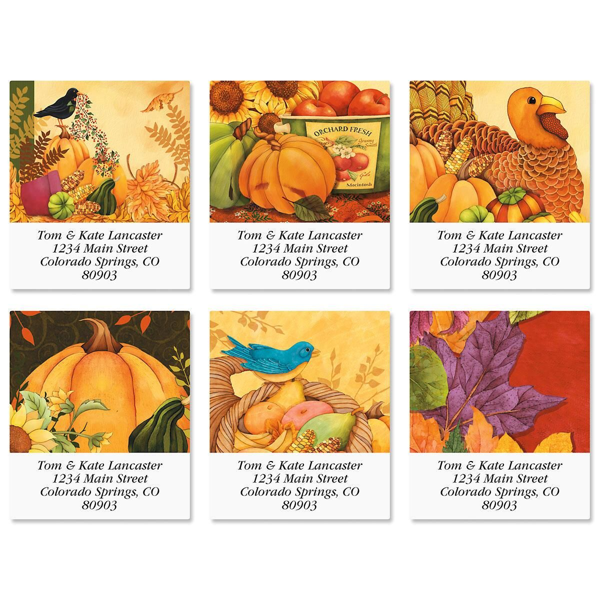 Welcome Harvest Select Return Address Labels  (6 Designs)