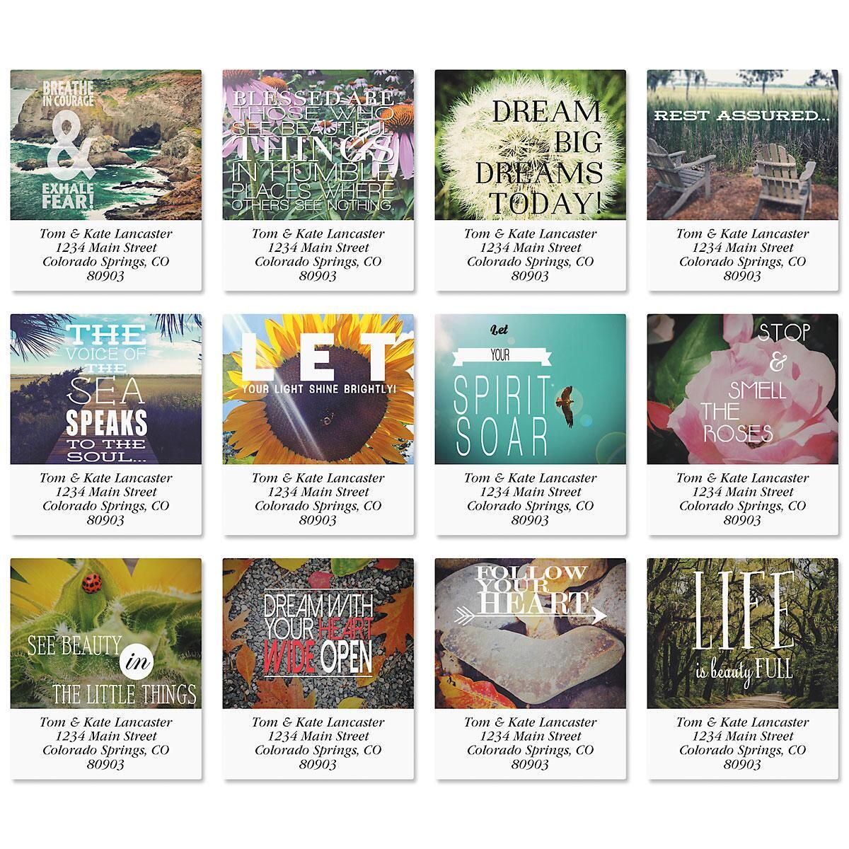 Photo Inspiration Select Return Address Labels  (12 Designs)