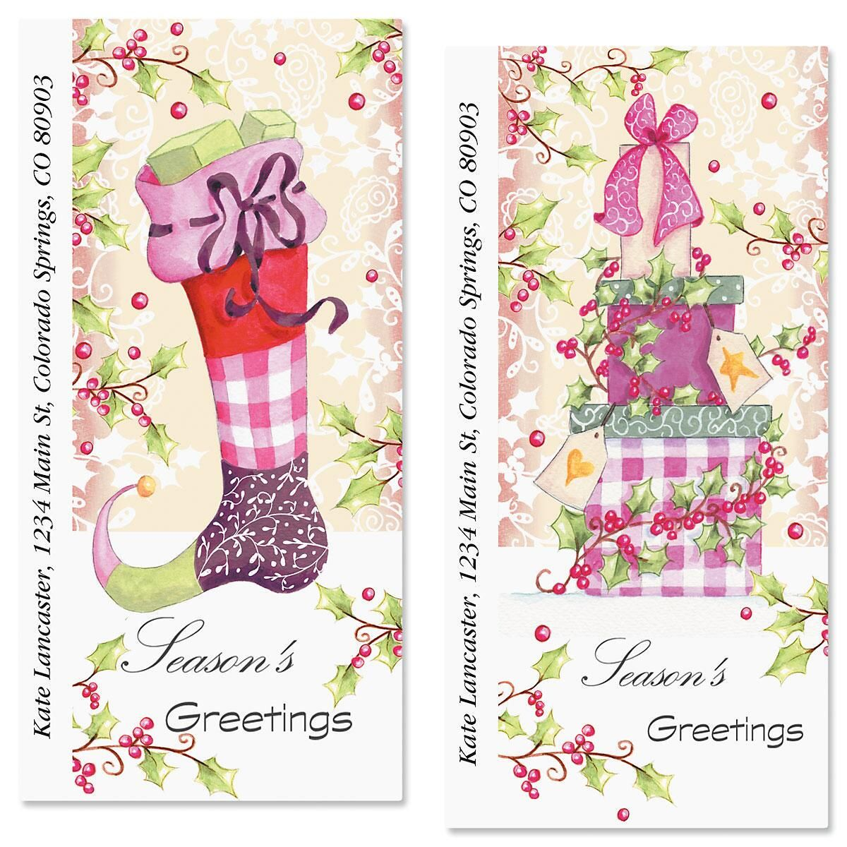 Sugar Plum Oversized Return Address Labels  (2 Designs)