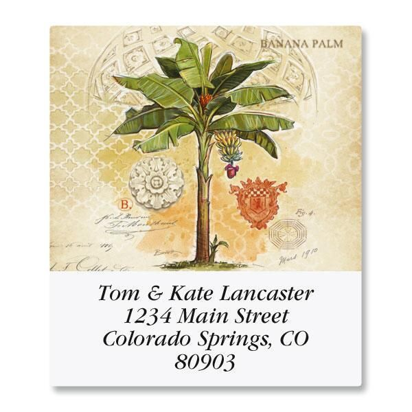 Palm Trees & Pineapples Select Address Labels  (6 Designs)