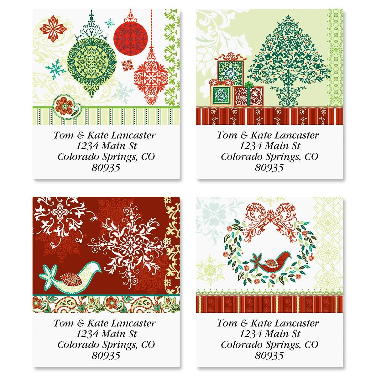 Intricate Details Select Return Address Labels  (4 Designs)