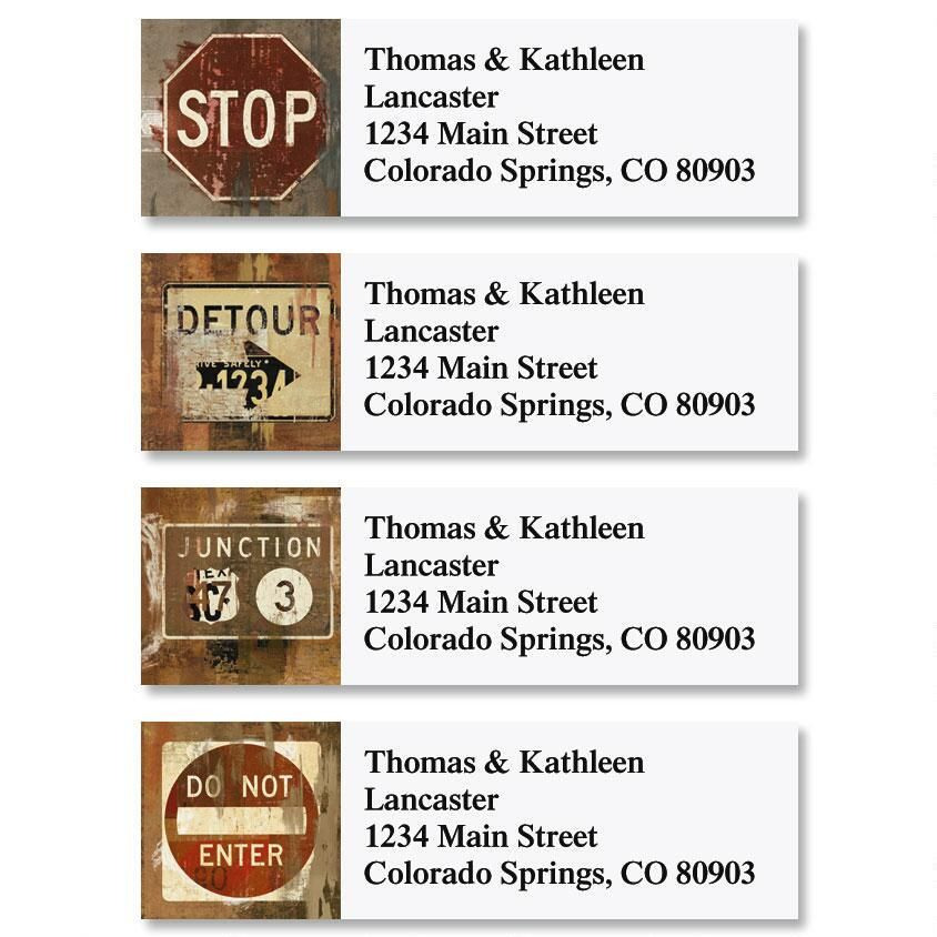 Street Signs Classic Return Address Labels  (4 Designs)