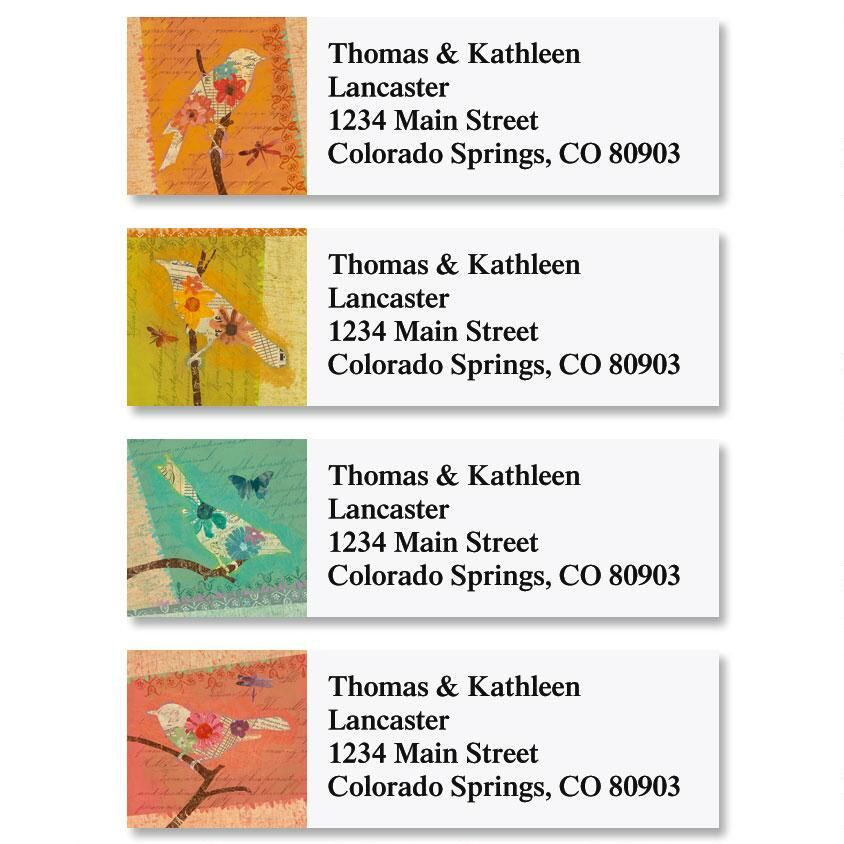 Tweet Silhouettes Classic Return Address Labels  (4 Designs)