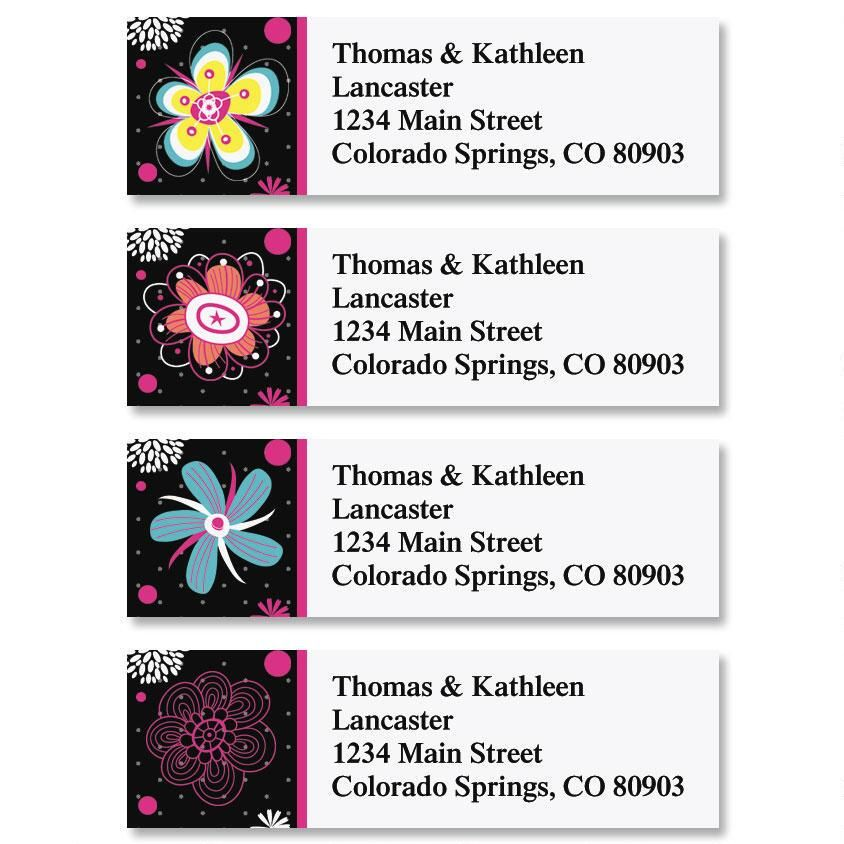 Vibrant Classic Address Labels  (4 Designs)