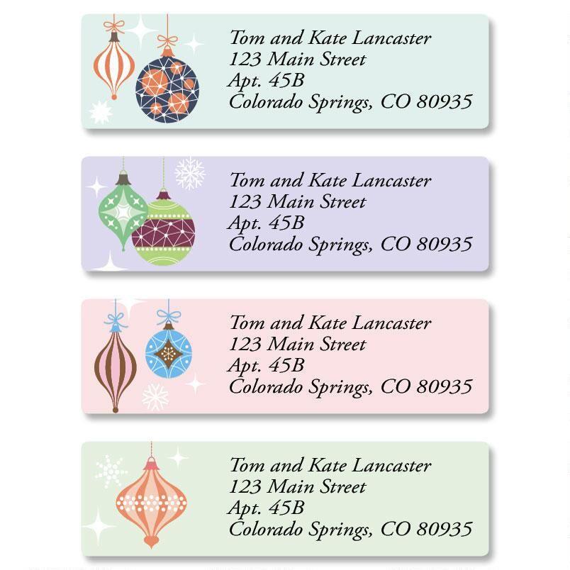 Ornamental Classic Return Address Labels  (4 Designs)