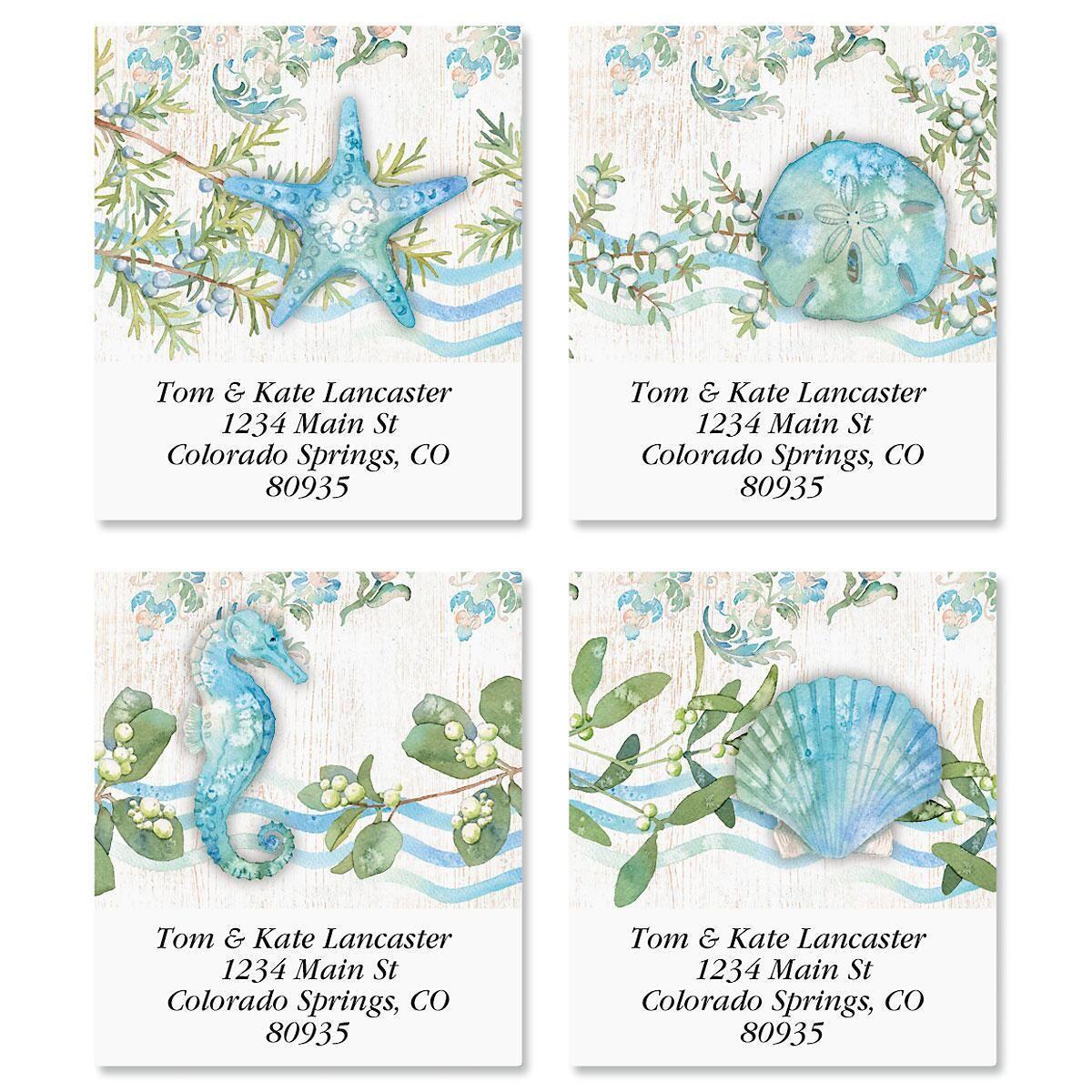 Ocean Tide Select Return Address Labels  (4 Designs)
