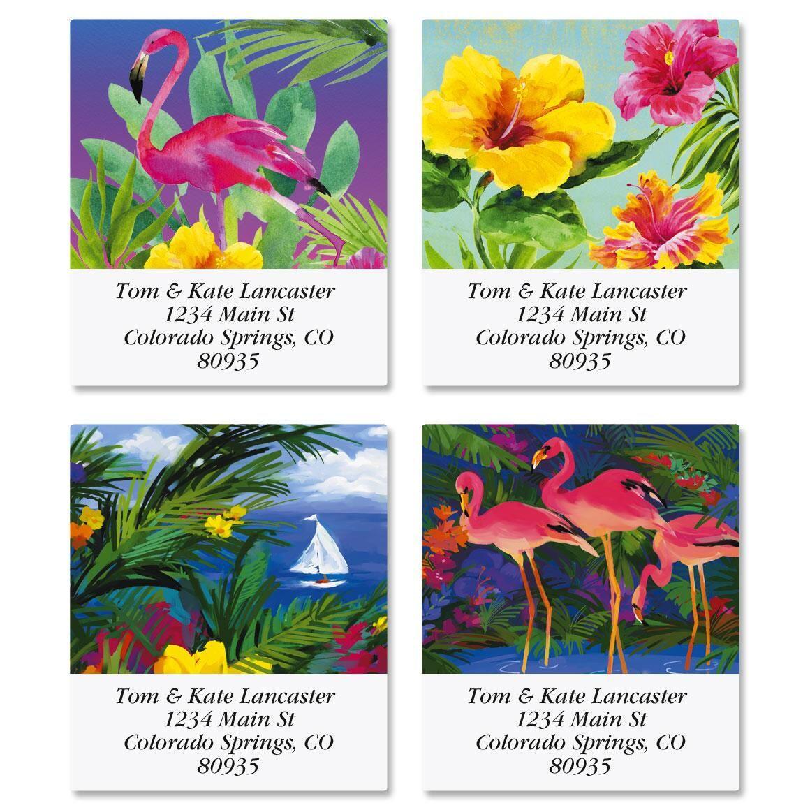 Vivid Tropics Select Return Address Labels  (4 Designs)