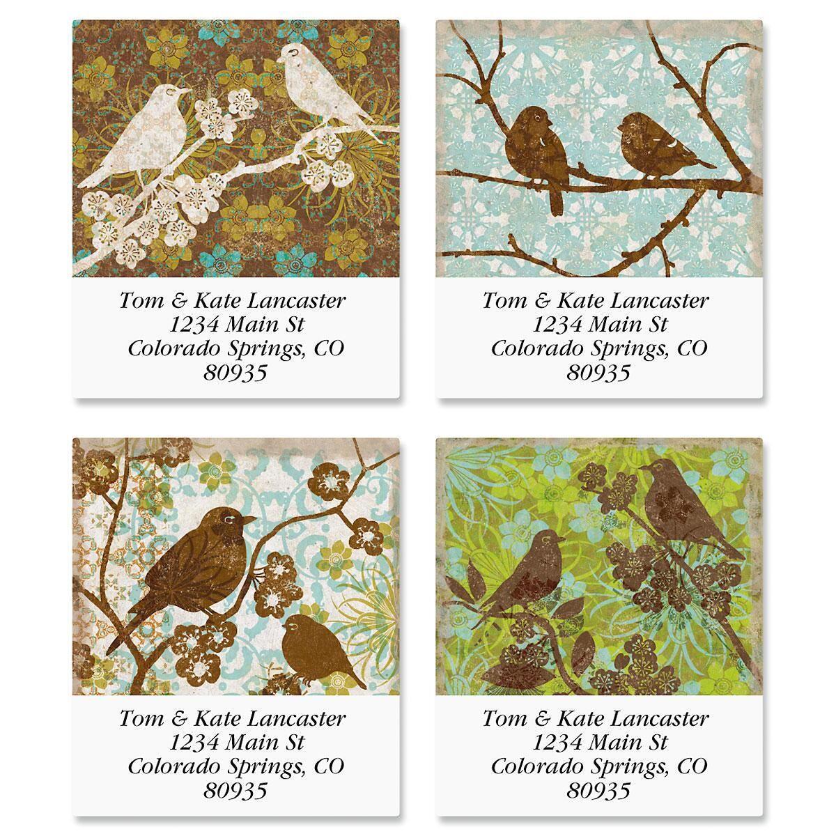 Tapestry Birds Select Address Labels  (4 Designs)