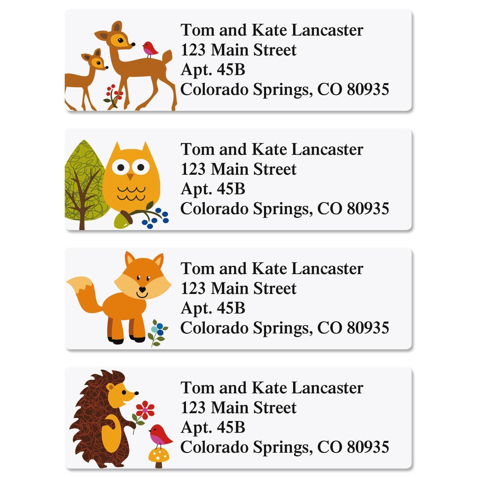 Woodland Classic Return Address Labels  (4 Designs)
