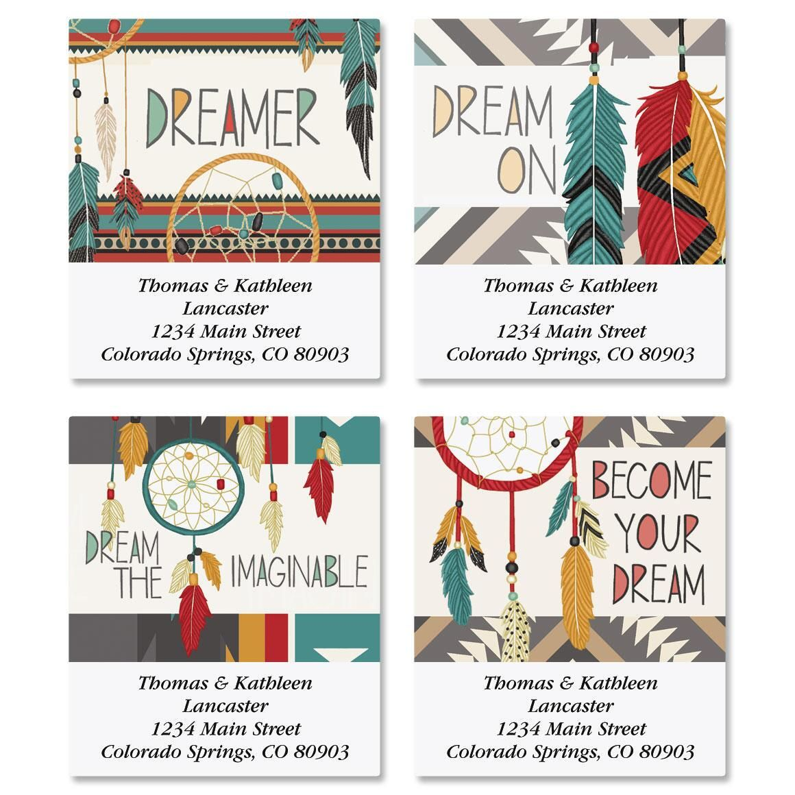Dreamcatchers Select Return Address Labels  (4 Designs)