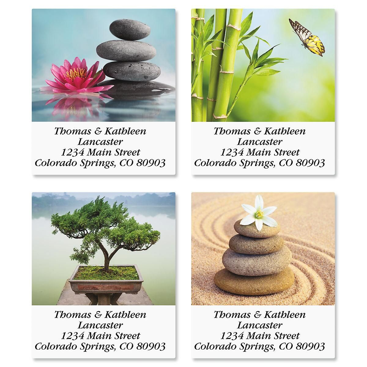 Zen Select Return Address Labels  (4 Designs)